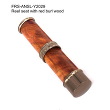 Riverruns Classic Design Nature Stabilize Burl Wood Fly Rod Parts Accessory Reel Seat Fishing Reel Seat DIY Fishing Rod