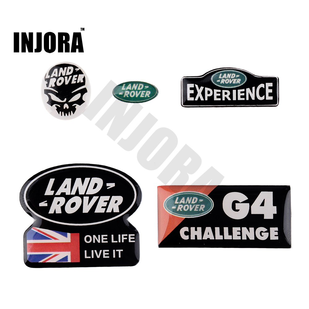 1PC Land Rover 3D Logo Sticker for 1/10 RC Crawler RC4WD D90 D110 Traxxas TRX4 TRX-4