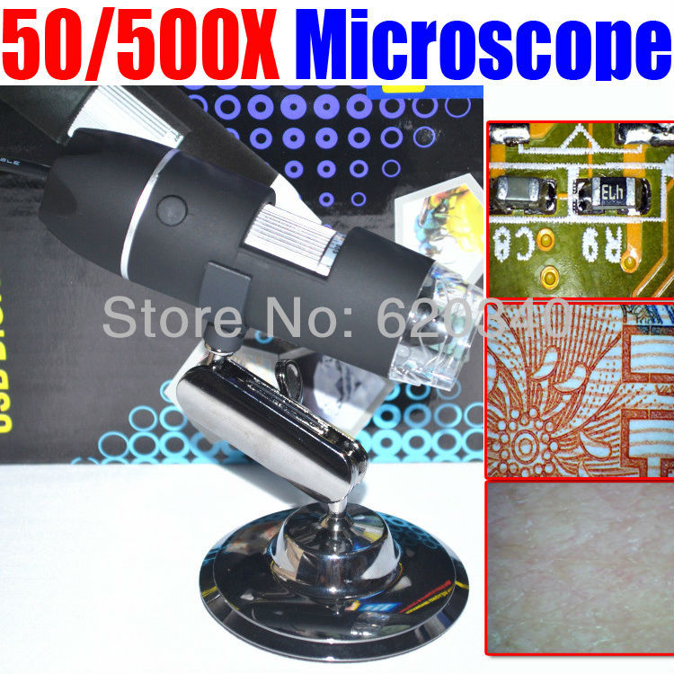 500 X USB Electron microscopic digital magnifying glass,for Industrial testing (textile), with measurement