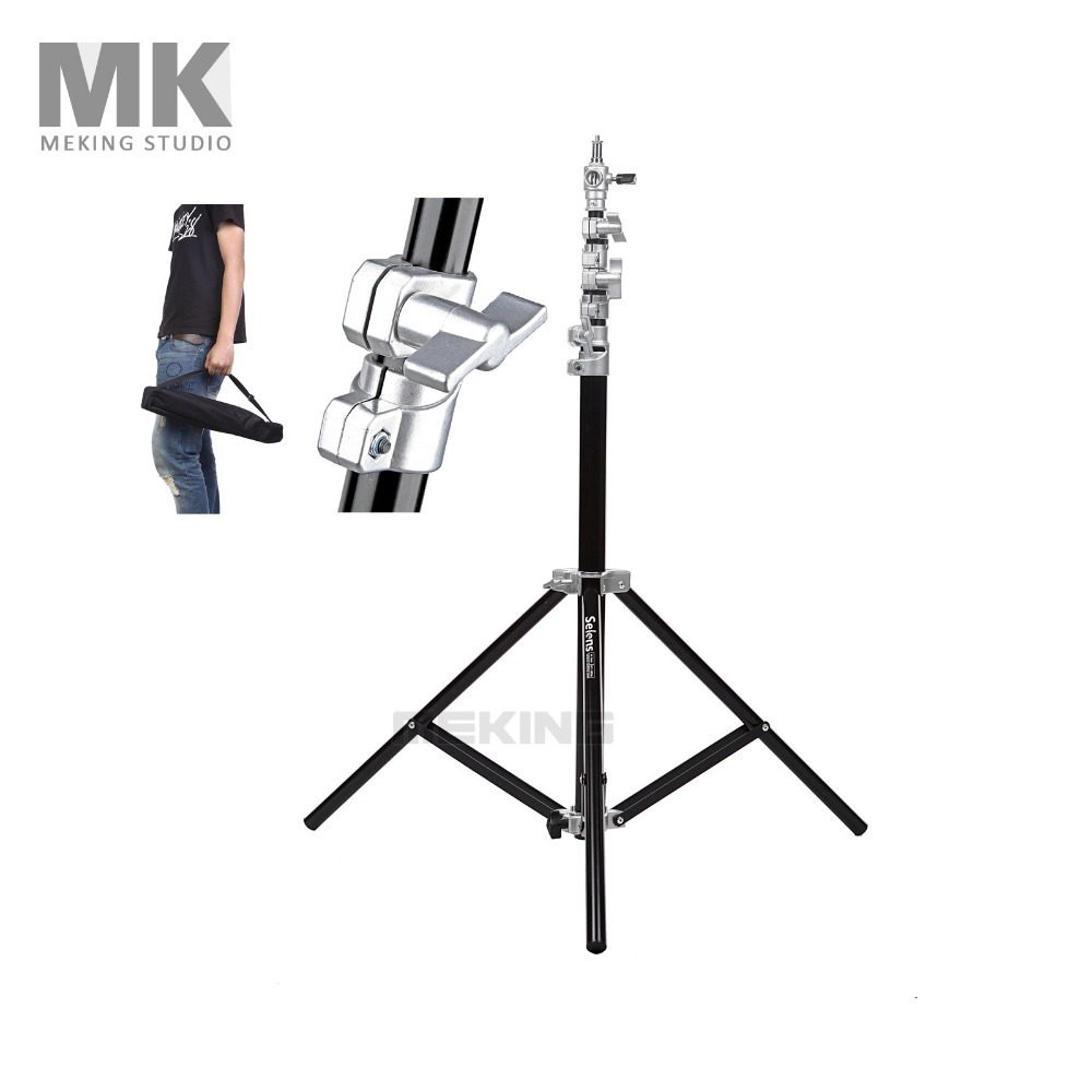 Selens Air-Cushion Heavy Duty Light Stand 220cm 7.2ft SGT-2200A with carrying Bag support system lighting holder t by alexander wang короткий комбинезон