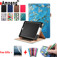 Leather Case For 2017 IPad 9 7 Inch A1822 A1823 Painted Handheld Magnet Smart Cover For