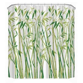 Занавески для душа с 3D принтом бамбуковые лесные занавески для ванной водонепроницаемый полиэстер маленькие бамбуковые занавески для ванн...