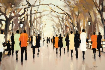 Abstract Modern art cityscape painting Poet's Walk oil on canvas home decor handmade High quality