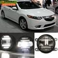 Eemrke estilo do carro para acura tsx honda accord 2 em 1 Multifunções LED Nevoeiro Luzes de Circulação Diurna DRL Com Lente luzes