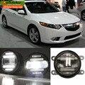 eeMrke Car Styling For Acura TSX Honda Accord 2 in 1 Multifunction LED Fog Lights DRL With Lens Daytime Running Lights