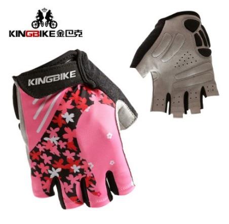 Beautiful women riding font b gloves b font outdoor sports short finger cherry font b gloves