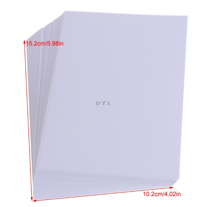 100 Sheets Glossy 4R 4×6 Photo Paper For Inkjet Printer paper Supplies 5