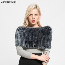 Shawl Women Jancoco Scarf Snood Rabbit-Fur Neck Warm Soft Winter New Muffler Rex S7127