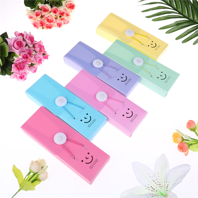 1Pc PVC Cartoon Stationery Box Plastic Button Writing  Pencil Box Students School Supplies Candy Color