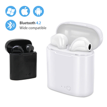 i7s TWS Mini Wireless Headset Bluetooth Earpieces Ear bud Twins Earphone With Charging box For Samsung Smart Ear Aid все цены