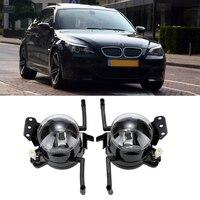 2pcs Black Car Left Right Fog Light With Light Bulb For BMW E60 5 Series 2003