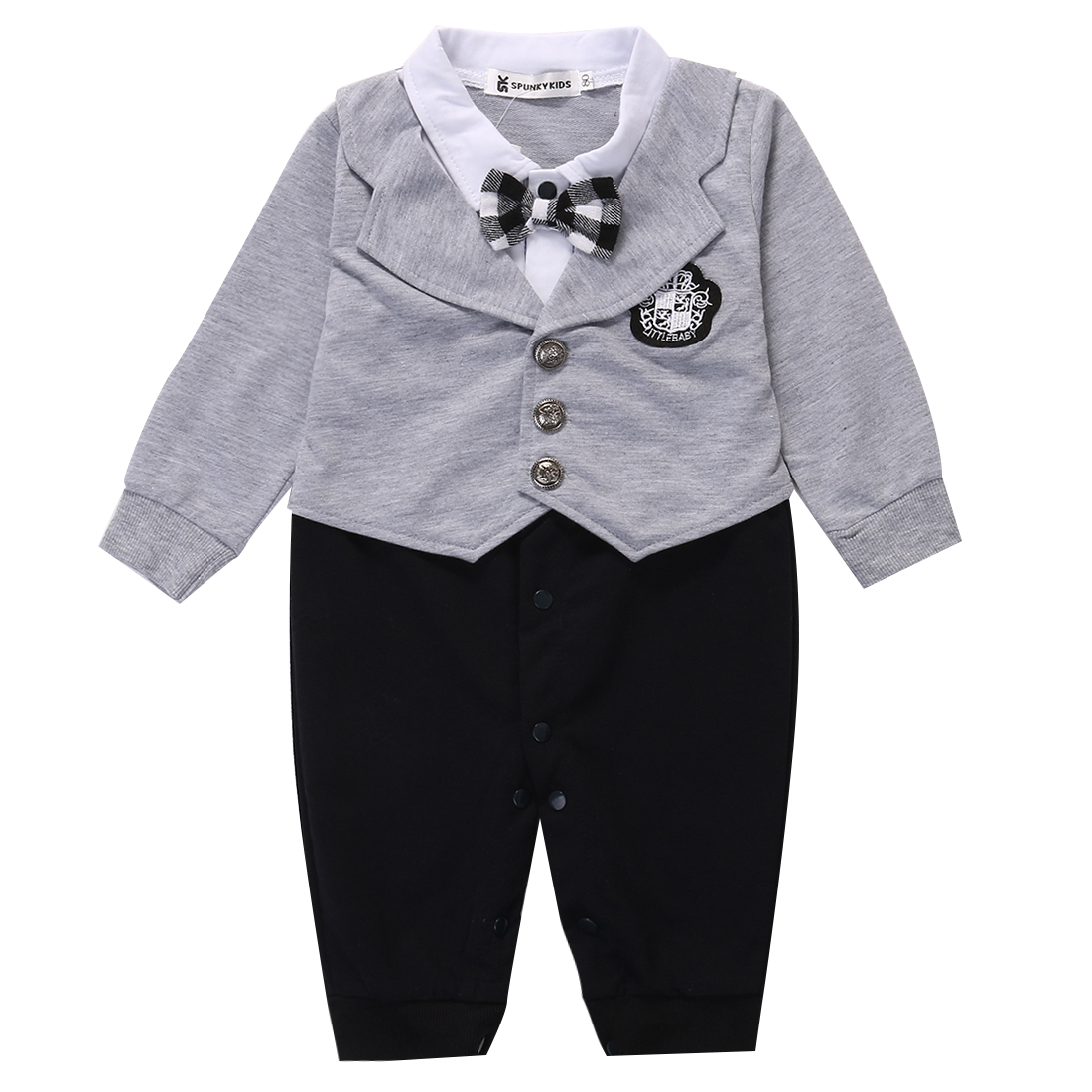 1Pcs Kid Infant Toddler Newborn Baby Boy Cotton Gentleman Romper Jumpsuit Formal Clothes Outfit 0-24M spring baby romper infant boy bear romper newborn hooded animal clothes toddler cute panda romper kid girl jumpsuit baby costume
