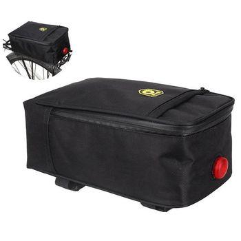 B-SOUL спортивная водонепроницаемая велосипедная сумка для багажника, сумка-седло, сумка для багажа с подсветкой, велосипедная сумка для багажа