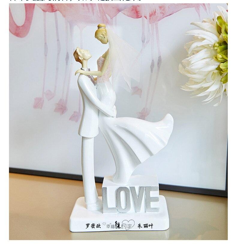 Haute qualité personnalisé amour gâteau Topper mariée et marié mariage gâteau Topper couples figurines nom personnalisé pour vous