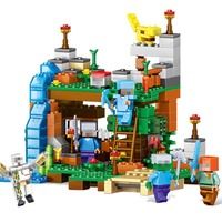 378pcs Minecrafted Compatible City 4 In 1 Minecraft Figures Building Blocks My World Bricks Set Educational