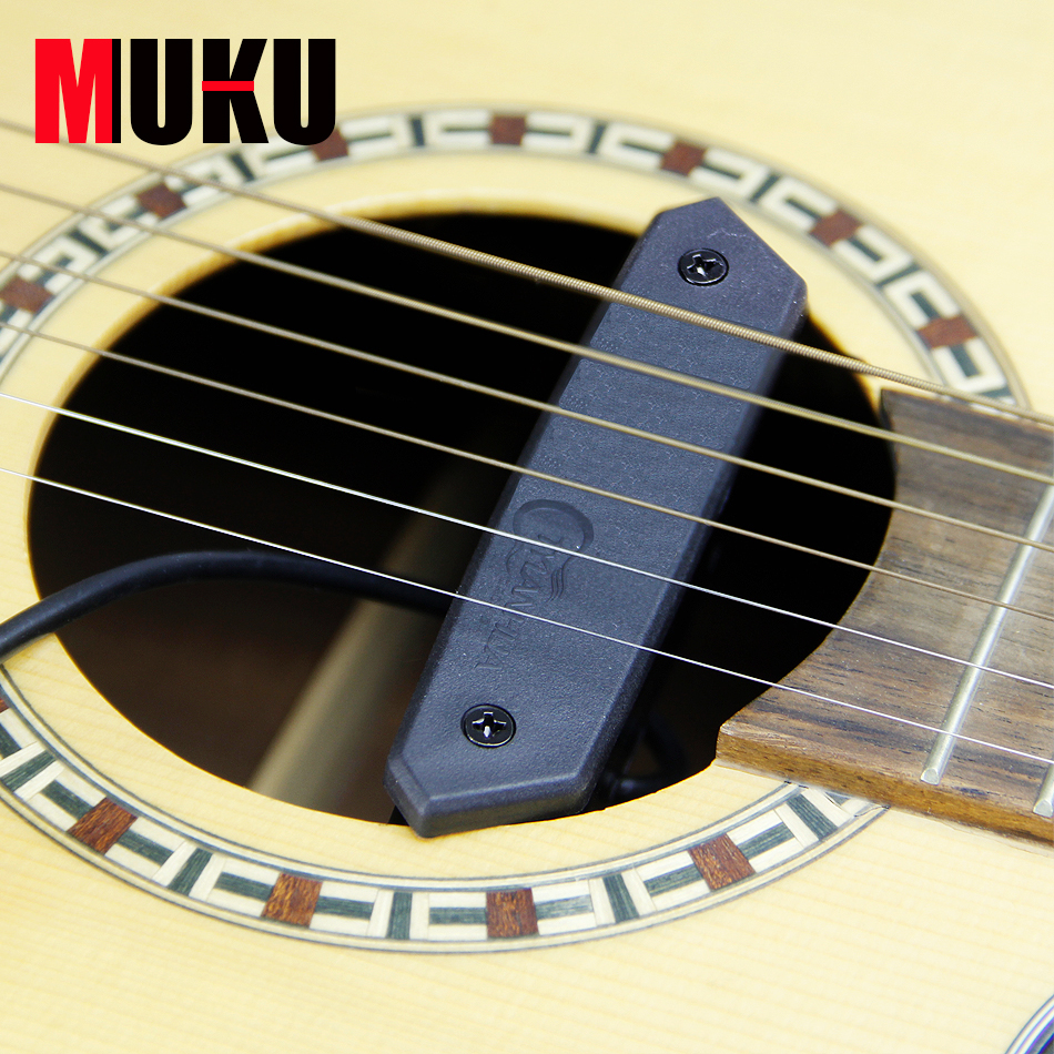 MUKU T-902 magnetic soundhole pickup Strap endpin jack suitable for band, tapping and solo Humbucker guitar pick holder