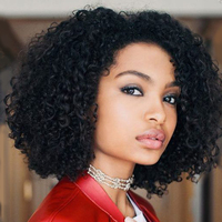 Sleek Brazilian Curly Human Hair Wig Remy Short Human Hair Wigs For Women Natural Short Curly Bob Wig Non Lace Wig Free Shipping
