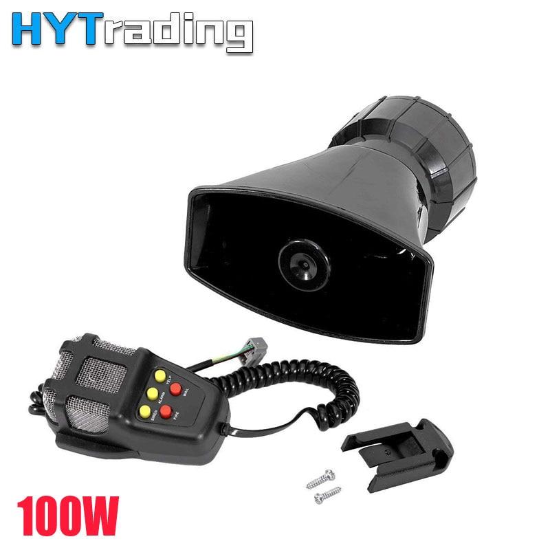 Hanturen Car Police Horns,5 Tone Sound Car Siren Vehicle Horn Mic PA Speaker System 100W Emergency Amplifier Microphone Автомобиль