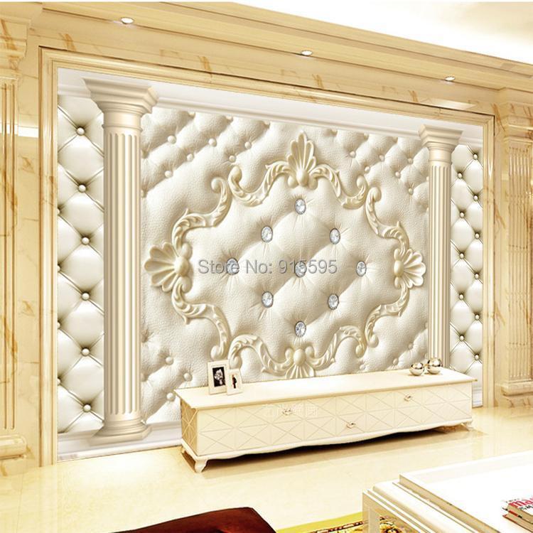 Europejski styl roman kolumna miękkie opakowanie stereoskopowe 3d niestandardowy mural tapety salonie kanapa włókniny tv tło tapety 2
