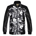 Fall Fashion Prints Youth Jacket Leather Cuffs Zipper Jacket