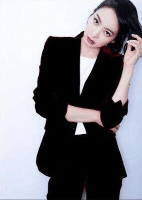 Suit female 2018 autumn temperament professional casual red suit jacket + nine pants elegant fashion two-piece women's clothing