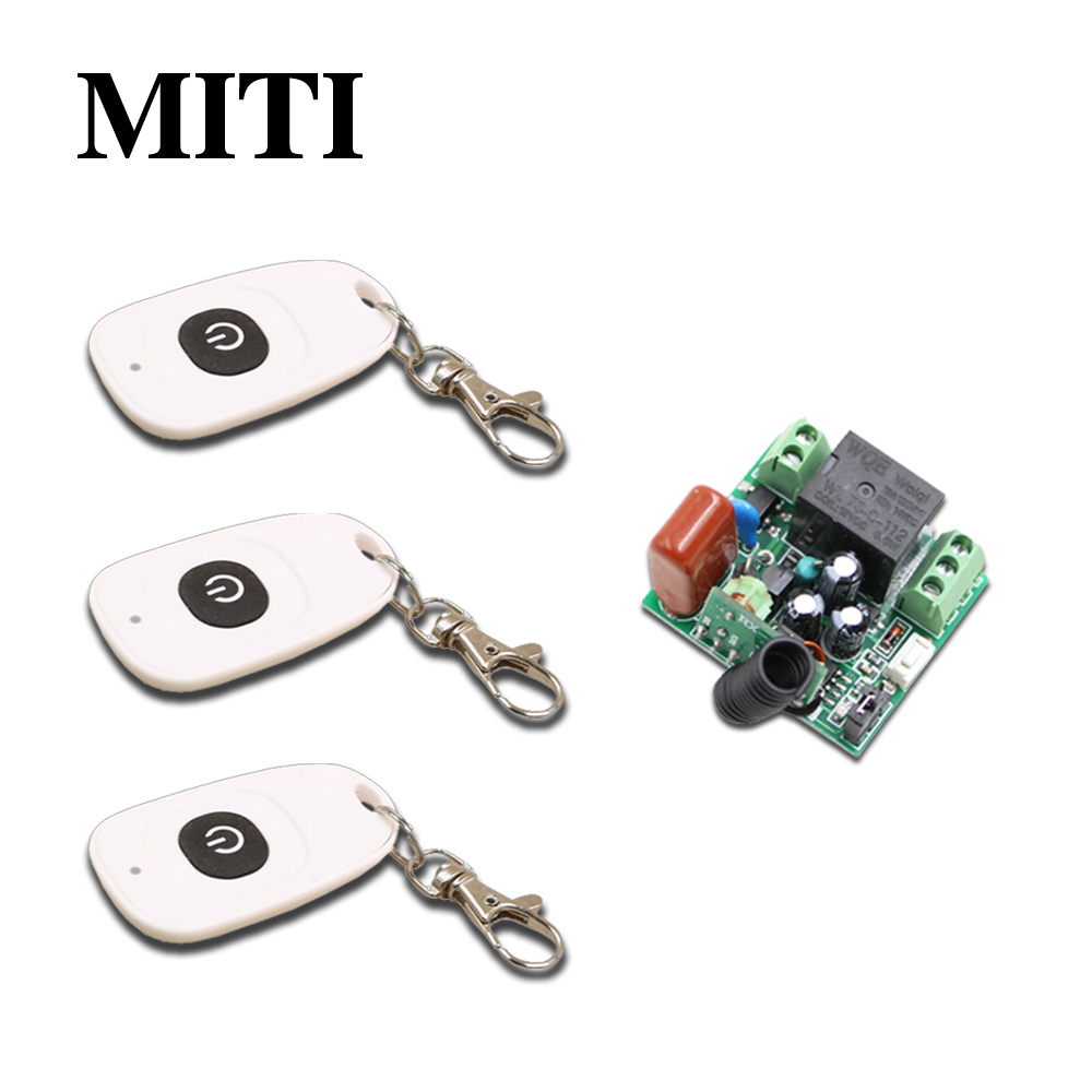 New Mini Size 1pcsReceiver+3pcsTransmitter RF 220V 1CH Wireless Remote Control Power Switch System for LED Light Lamp 315/433MHZ 220v wireless remote control switch system rf 4 receivers 3transmitter for led light lamp freeshipping