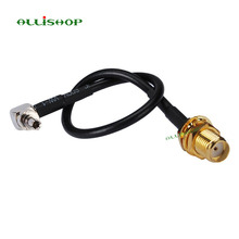 ALLiSHOP 0-3GHz sma female sockets jack connector to crc9 adapter pigtail RG174 cable For HUAWEI PCI wifi router 3G Modem стоимость