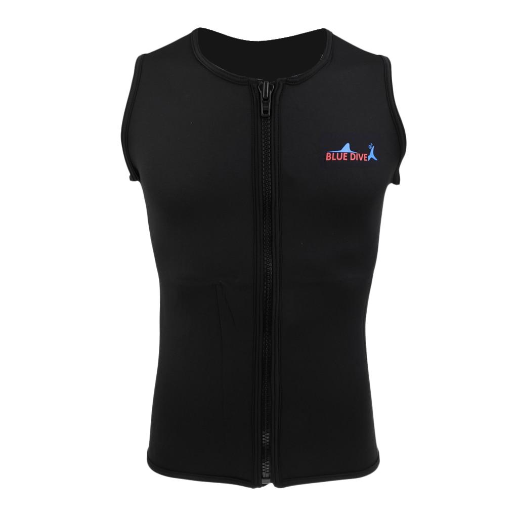 Neoprene Wetsuit Vest Swimwear-Equipment Jacket Top-Shirt Diving Spearfishing Women Black