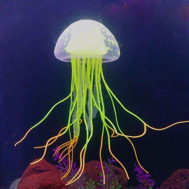 Imitation Floating Jellyfish Aquarium Deco  2
