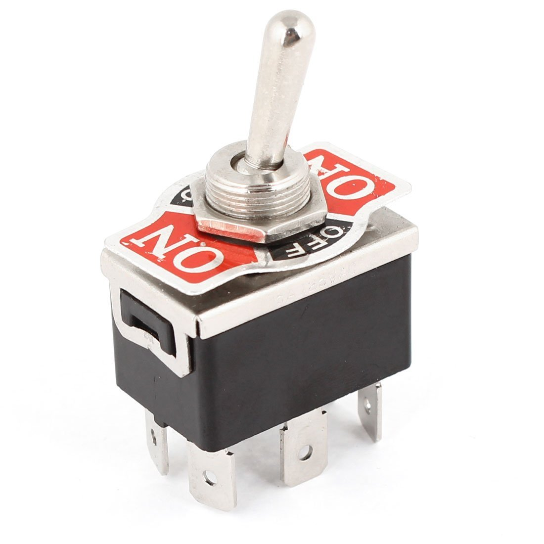 New Ac 250v/10a 125v/15a Dpdt 3 Position On/off/on 6 Pins Toggle Switch Black+silver Lighting Accessories