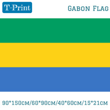 90*150cm/60*90cm/40*60cm/15*21cm Gabon Flag World Cup / National Day Olympic Games Event Office Home decoration