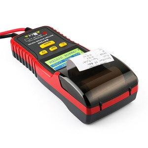Image 4 - 12 فولت و 24 فولت سيارة جهاز اختبار بطارية محلل ANCEL BST500 مع طابعة لشاحنة الثقيلة بطارية السيارة صيانة السيارات أداة تشخيصية