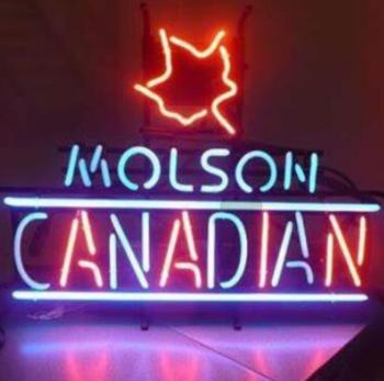 Custom Molson Canadian Lager Neon Light Sign Beer Bar