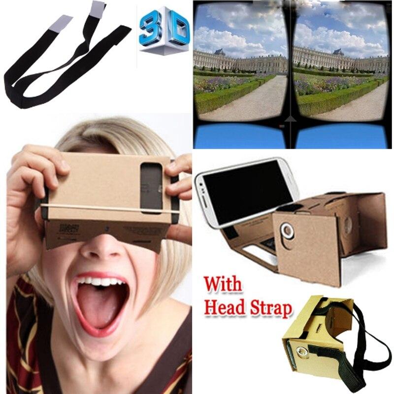 """<font><b>High</b></font> <font><b>quality</b></font> <font><b>DIY</b></font> <font><b>Cardboard</b></font> <font><b>Virtual</b></font> <font><b>Reality</b></font> VR Mobile Phone 3D <font><b>Viewing</b></font> Glasses for 5.0"""" Screen VR 3D Glasses"""