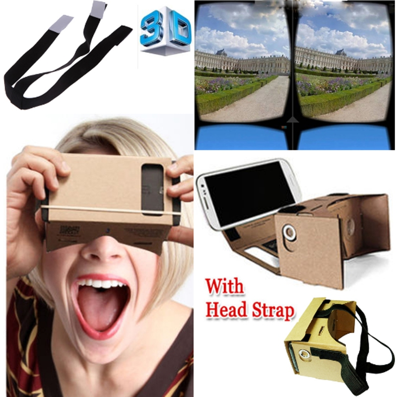 "High quality DIY Cardboard Virtual Reality VR <font><b>Mobile</b></font> <font><b>Phone</b></font> 3D Viewing <font><b>Glasses</b></font> for 5.0"" Screen VR 3D <font><b>Glasses</b></font>"