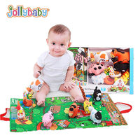 4 style Baby Reading Educational Toys Rustle Sound Rattle Bell 3D Unfolding Activity Story Cloth book play Crawling mat 40% off