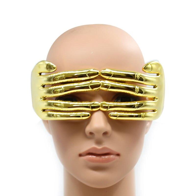 Dedos de ouro Óculos Festival Pontos Extraordinárias Dos Homens Um Pedaço de Barra De Prata para o Partido de Cosplay Moda Oculos de sol Feminino