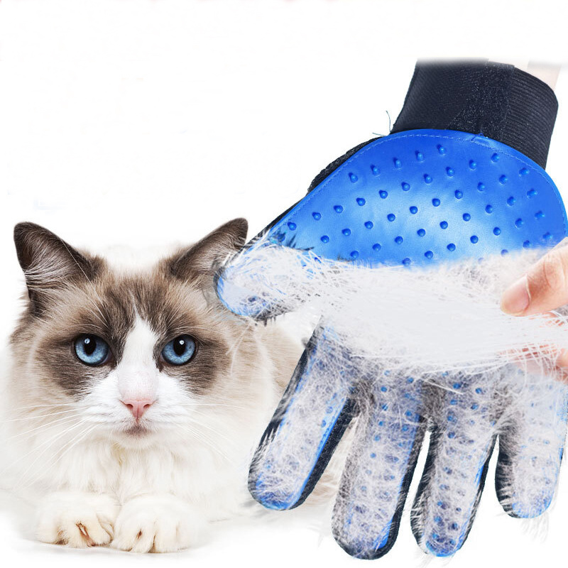 Pet Soft Silicone Dog Cat Pet Brush Glove Cat Cleaning Gentle Efficient Cat Grooming Glove Dog Bath Supplies Pet Glove Combs