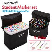 Touchfive 12 30 36 40 48 60 72 80 Colors Student Marker Set Dual Head Oily