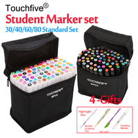 Touchfive 12 30 36 40 48 60 72 80 Colors Student Marker Set Dual Head Oily