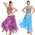 3 шт. Набор Египет Производительность Танец Живота Костюм Женщина Индийского Triba Цыганский Костюм Женщины Танец Живота Танцы Женщин Живота Костюм