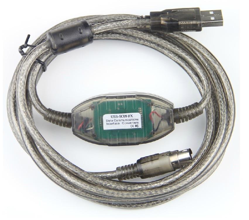 USB-SC09-FX Programming Cable For FX0 FX0N FX1N FX2N FX3U FX3G FX2NC FX0S FX1S original extended cable fx0n 65ec