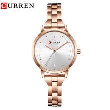 CURREN reloj de oro de las mujeres relojes de señoras creativa de las mujeres  relojes de pulsera mujer reloj Relogio femenino Mo. f0a23cc0f548