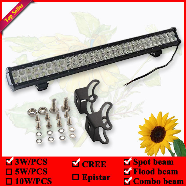 28 Inch 180W  LED Work Light Bar With bottom Bracket  for Off Road Work Driving Offroad Boat Car Truck 4x4 SUV Spot Flood Combo 2pcs dc9 32v 36w 7inch led work light bar with creee chip light bar for truck off road 4x4 accessories atv car light