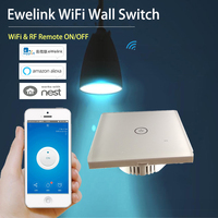 Ewelink 1 Gang WiFi Wall Light Touch Switch Timer Panel 86 Type 85 250V IOS Andorid