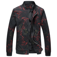 2018 New Spring Floral Jacket Men Slim Fit Mens Jacket Floral Printed Stand Collar Jacket Casual Bomber Jacket Men Plus size 6XL