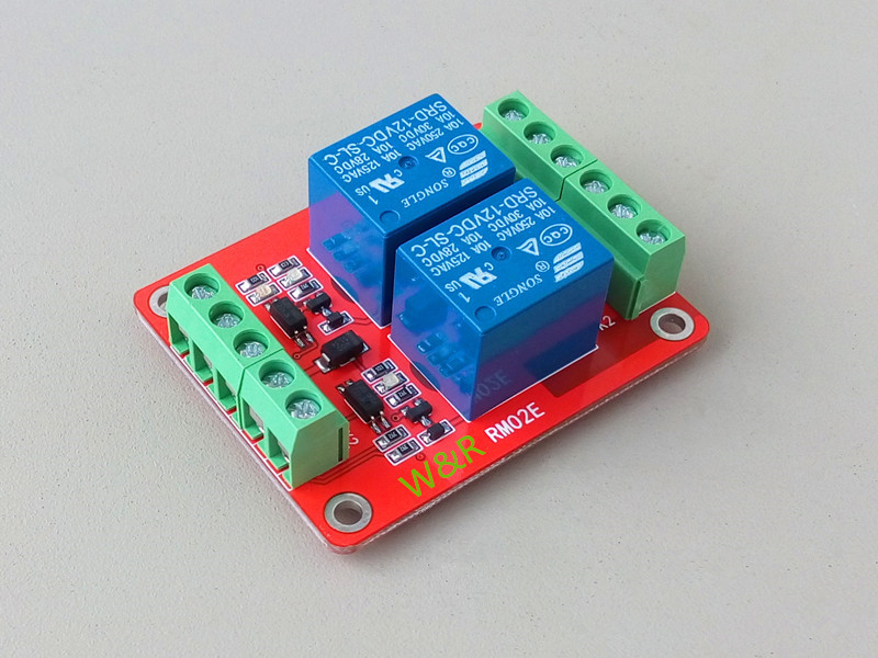 2 Way Relay Module / Expansion Board / High Level / Optocoupler 5/12/24V/ Optional Optional Trigger