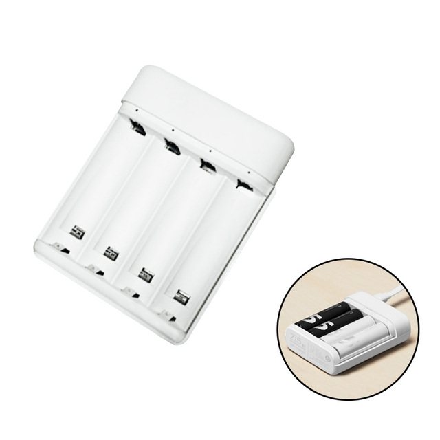 Original Xiaomi ZI5 AA/AAA Ni-MH Battery Charger USB Power Bank with 4 Slots Portable USB Charger no included battery