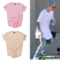 Justin Bieber Kanye West Fashion Curved Hem Hip Hop T Shirt Men Urban Kpop T Shirt