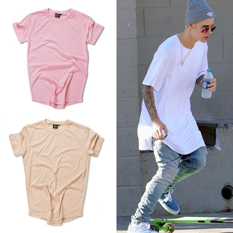 Justin Bieber Kanye West Fashion Curved Hem Hip Hop T -6310